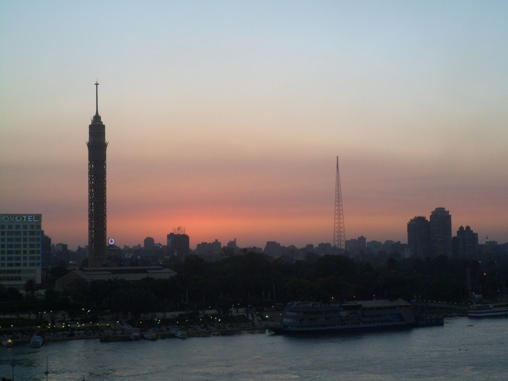 Cairo Tower at sunset