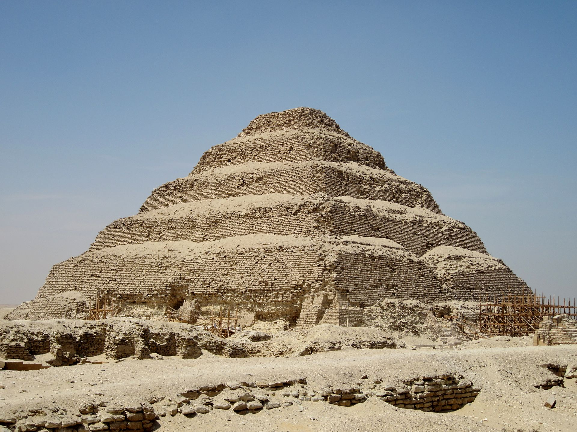 Zoser's early pyramid