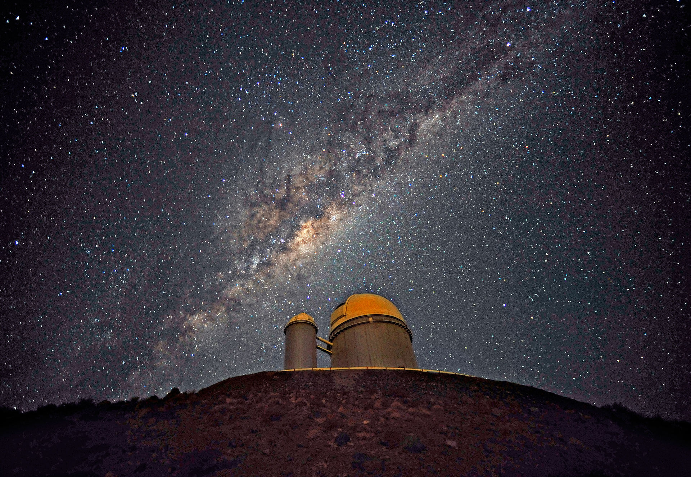 La Silla observatory with Milky Way