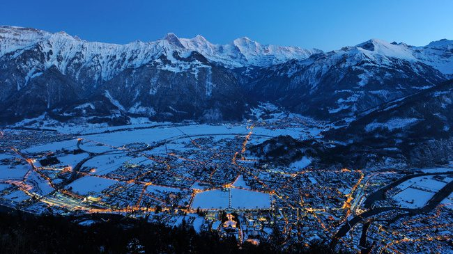 Interlaken in the winter