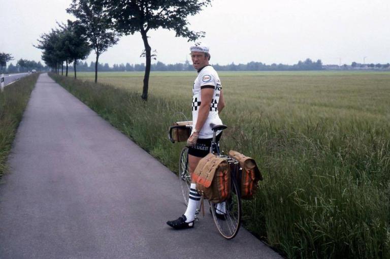 Mr. Clark cycling