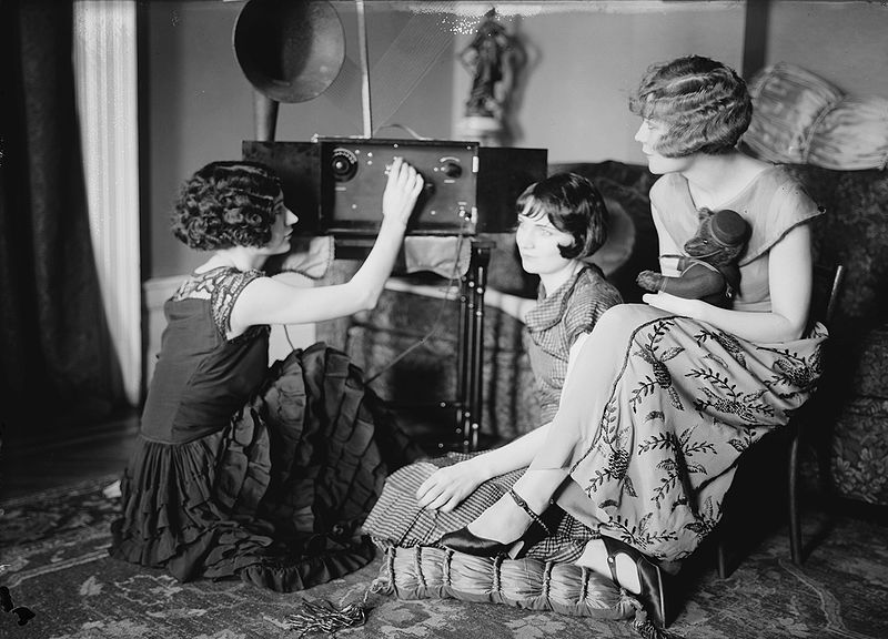 The Brox sisters listen to their radio
