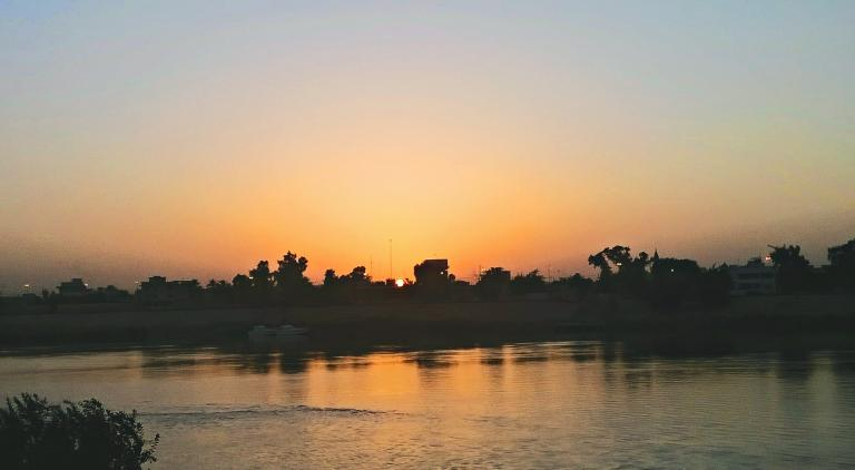 Tigris River at sunset, near Baghdad
