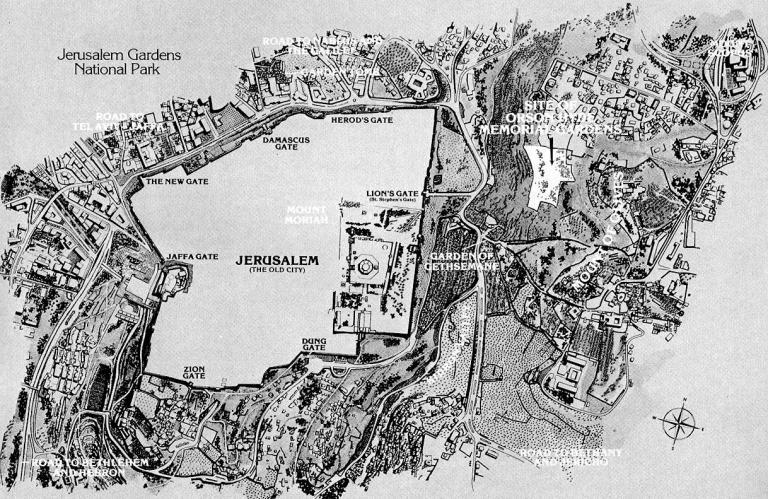 Ensign: Orson Hyde Garden map