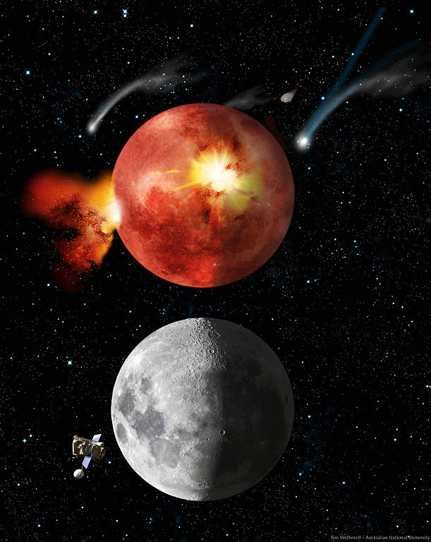 Wetherell's lunar bombardment