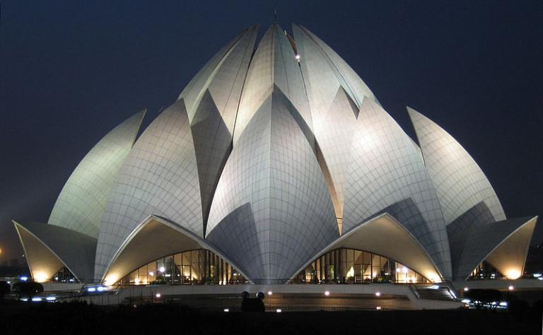 "The so-called ""Lotus Temple"""