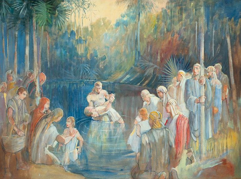 Teichert's Waters of Mormon