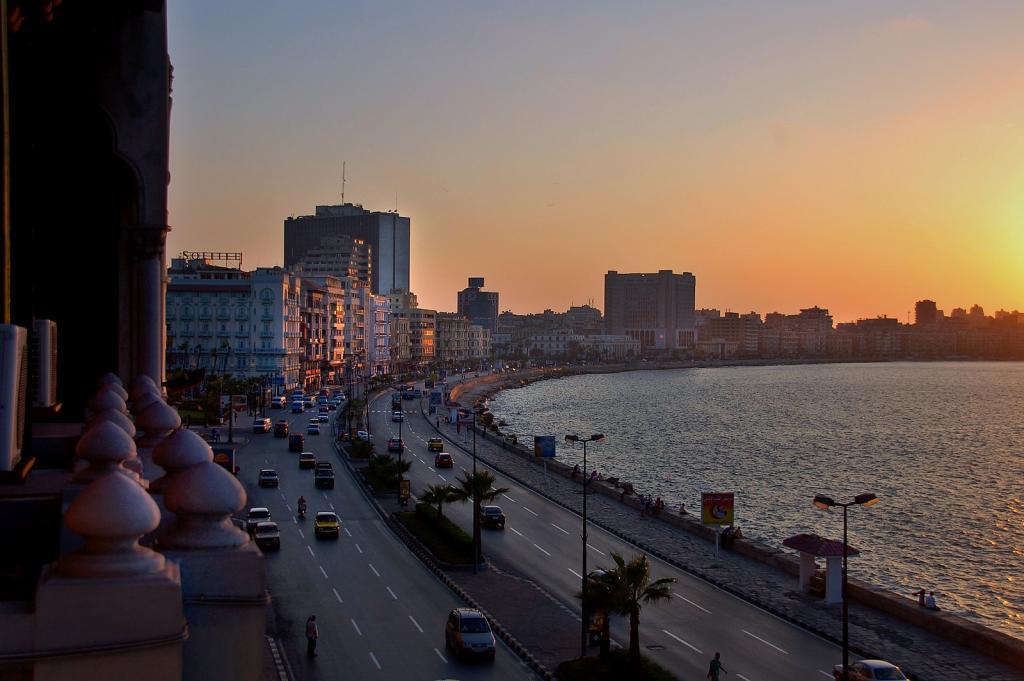 Alexandria at dusk