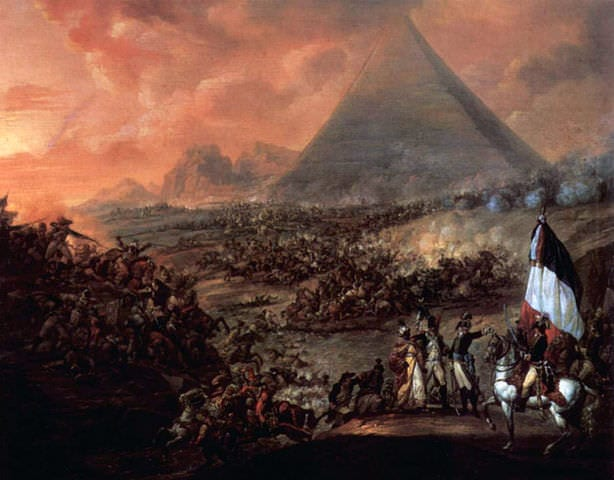 The Battle of the Pyramids as imagined by Watteau