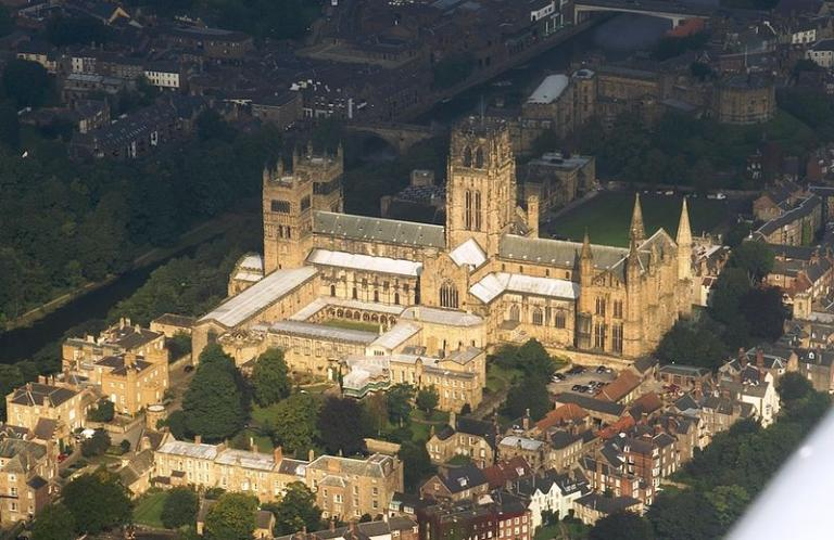 The Cathedral at Durham, from the air