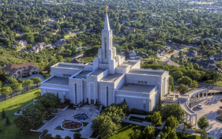 The Bountiful Temple from above