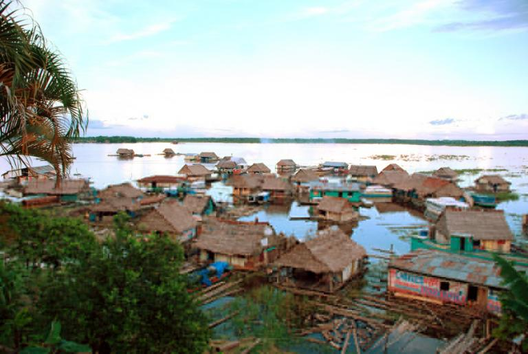 Villages literally on the water