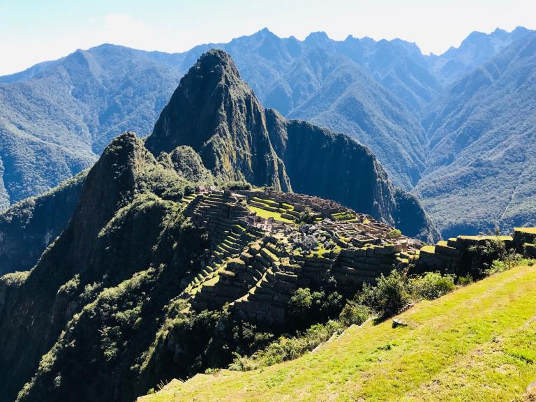 Machu Picchu from above it.