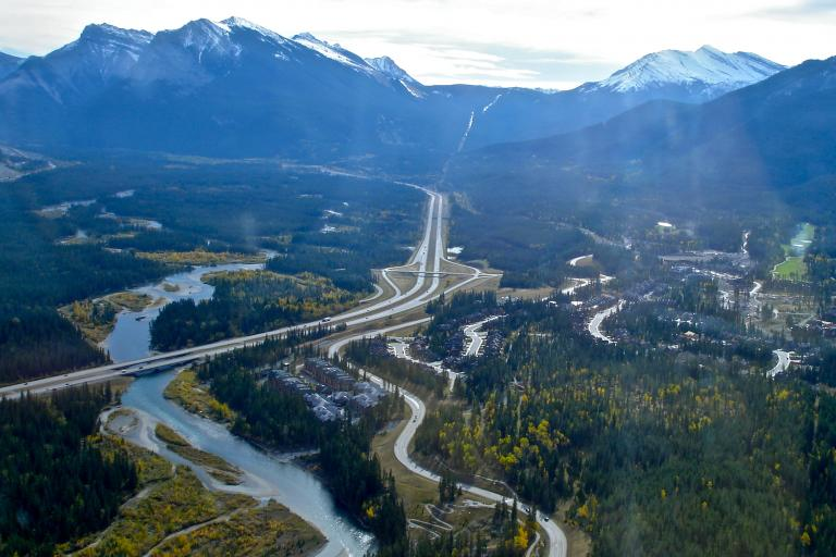 Jack Borno does Canmore from above