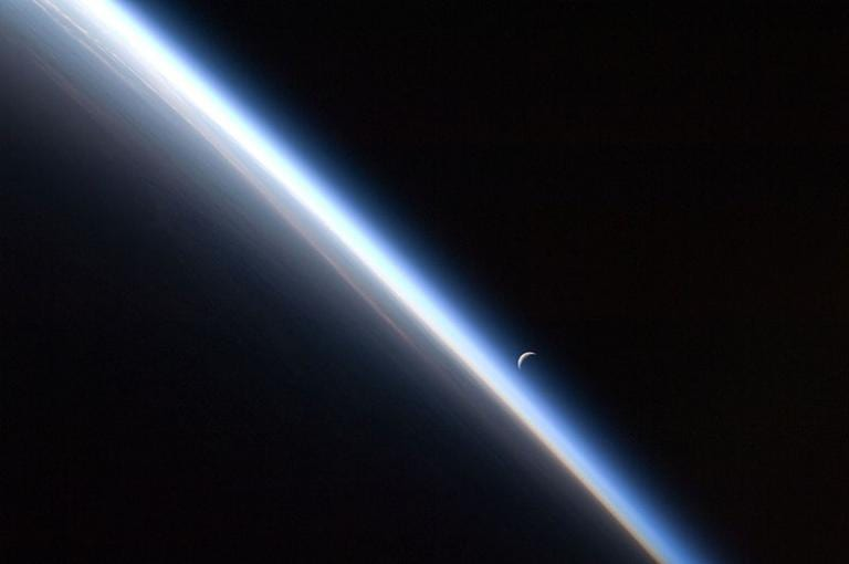 NASA ISS photo of Earth's atmosphere