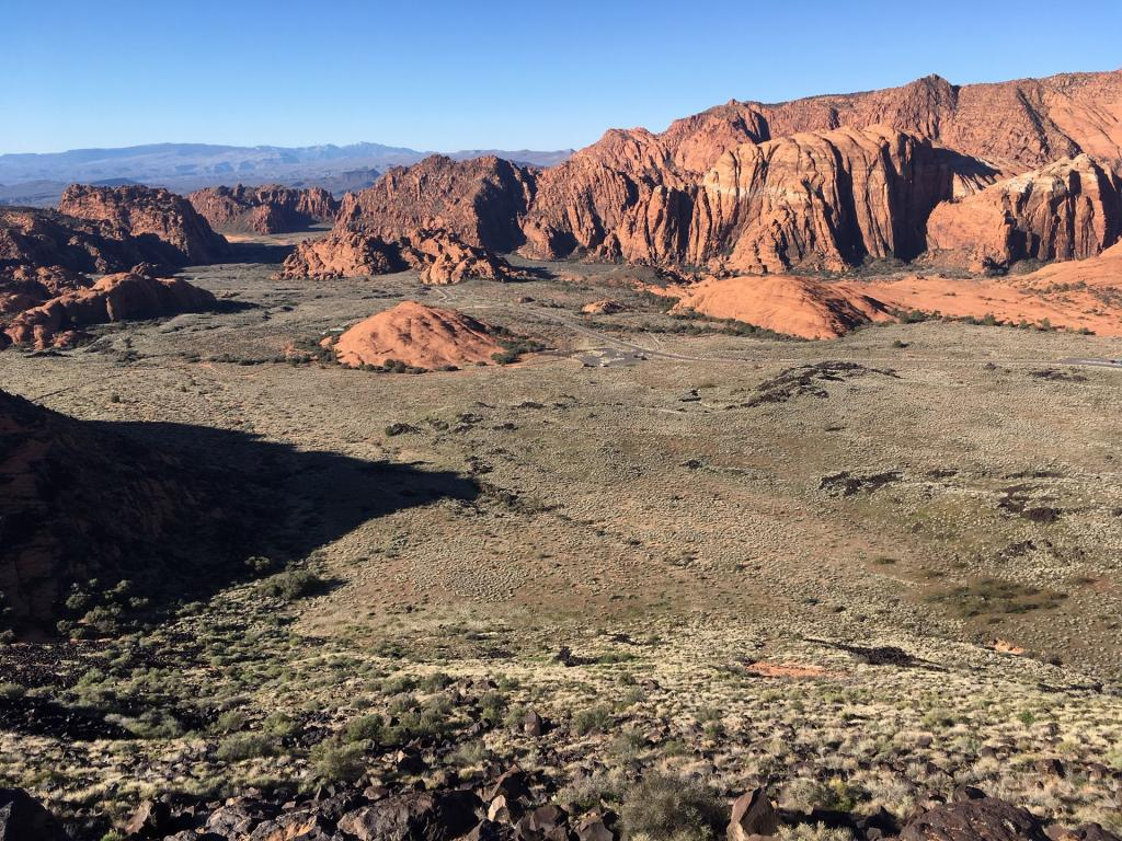 Aerial Snow Canyon