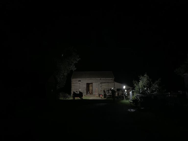 Nighttime at the Whitmer Livery Stable