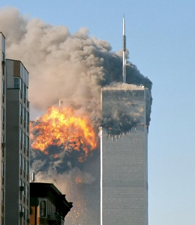 Minutes after the second WTC attack