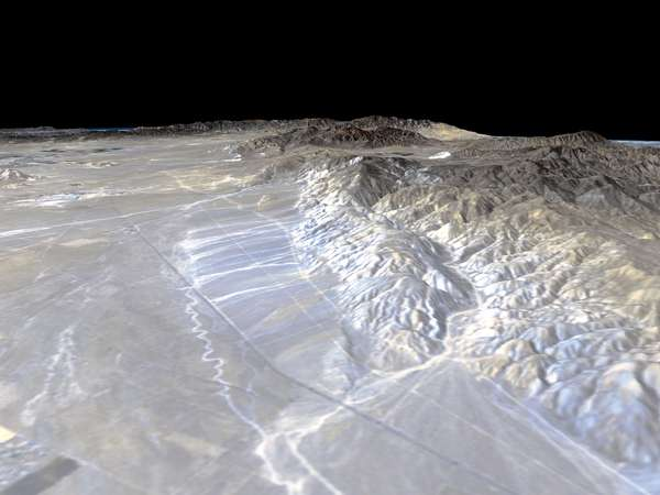 The Garlock Fault, from space