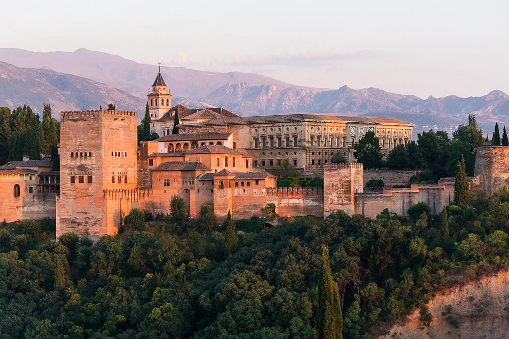 The Alhambra at sunrise.