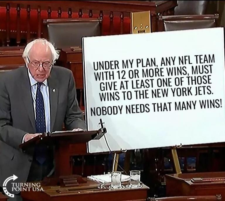 Bernie Sanders on the NFL
