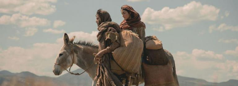 Mary and Joseph en route to Bethlehem