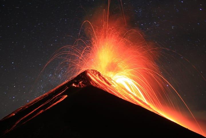 A Guatemalan volcano