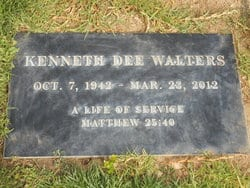 Kenneth's tombstone