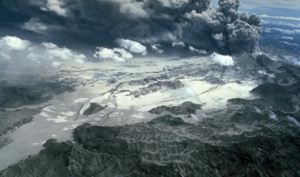 Mount Pinatubo from the air