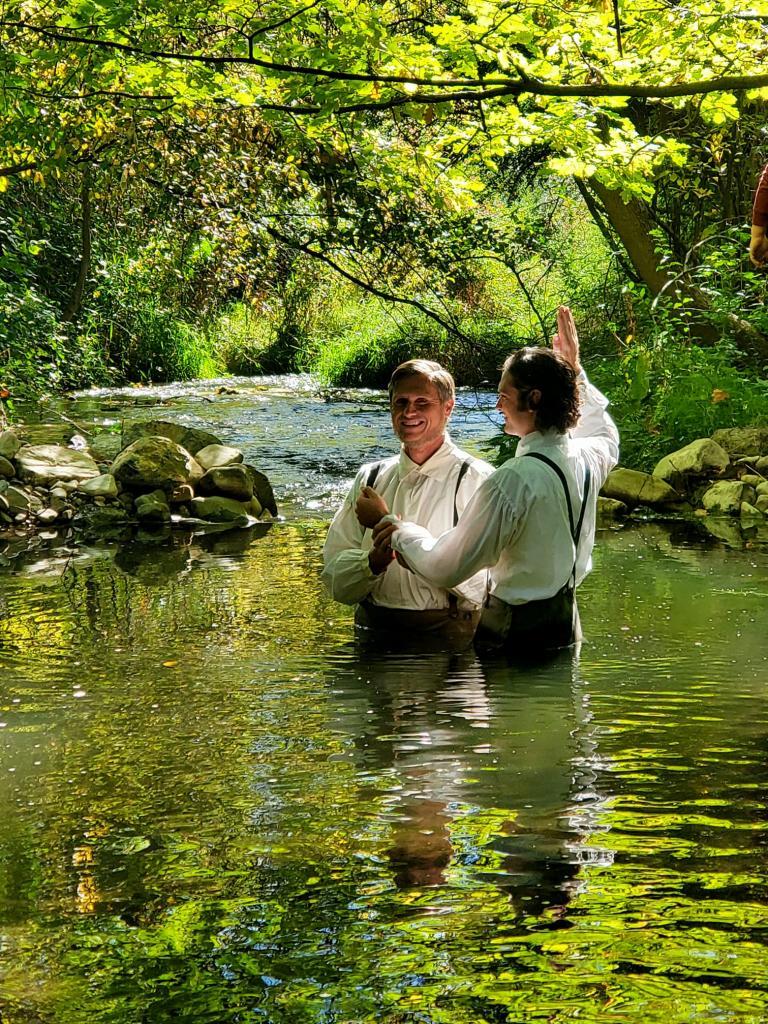Liincoln Hoppe as Martin Harris, rebaptized.