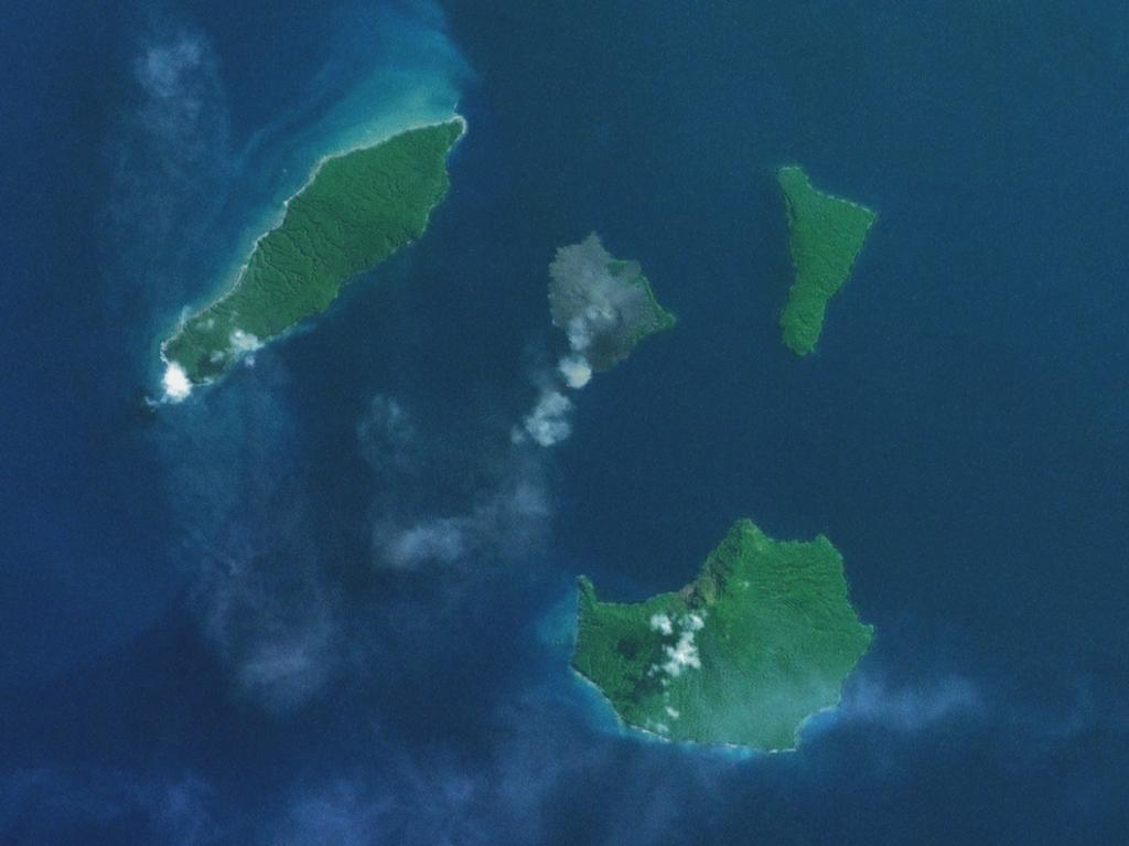 Krakatoa and environs from space