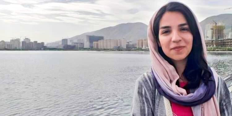 Mary Mohammadi, near a lake