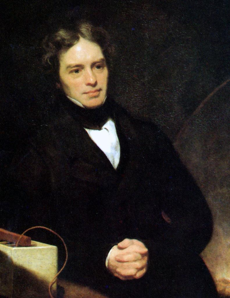Michael Faraday portrait, done when he was about fifty