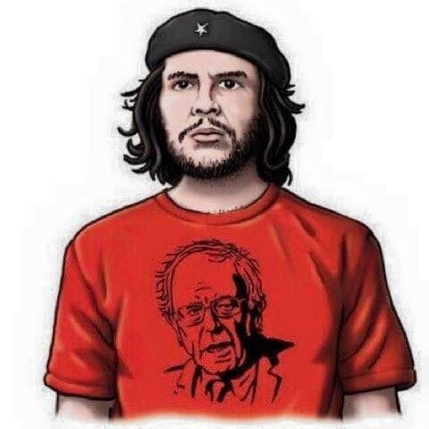 Che wearing a Bernie shirt
