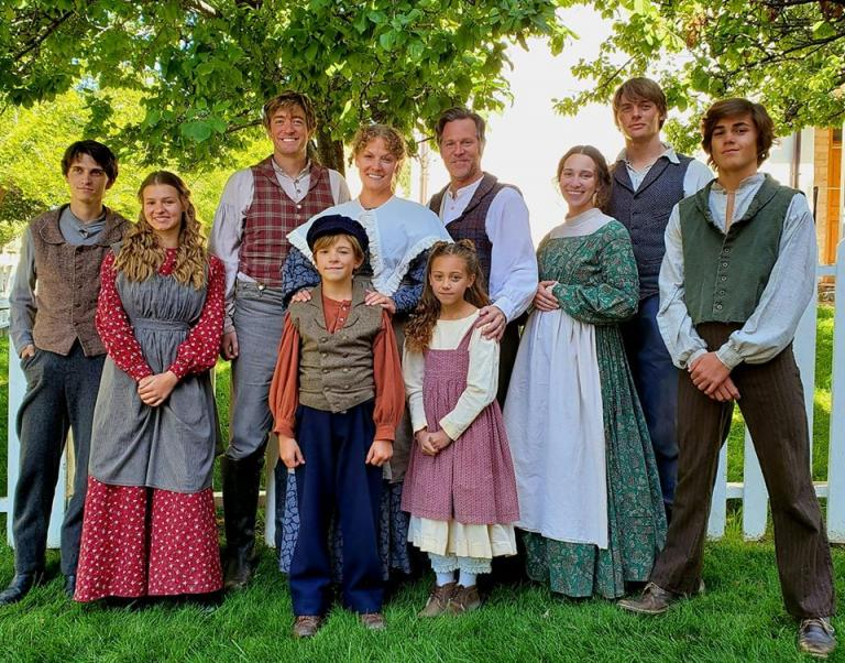 Joseph Smith Sr., farmer of the Genesee, and his family.