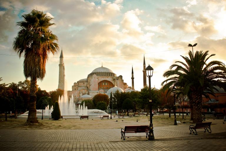 Aya Sofya from the park