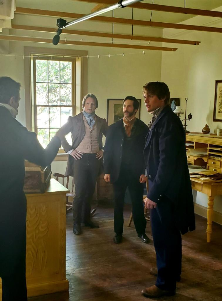 James Jordan, Joseph Smith, and three unidentified men