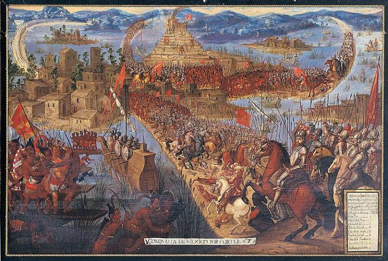 Tenochtitlan falls to Hernan Cortes