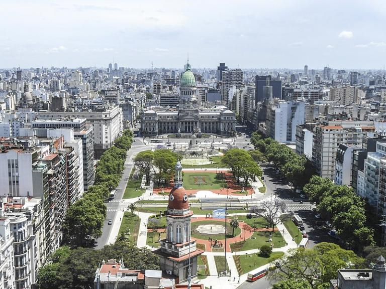 A square in the capital of Argentina