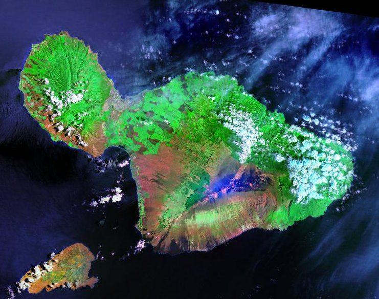 Maui from space