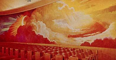 LA Temple creation room mural