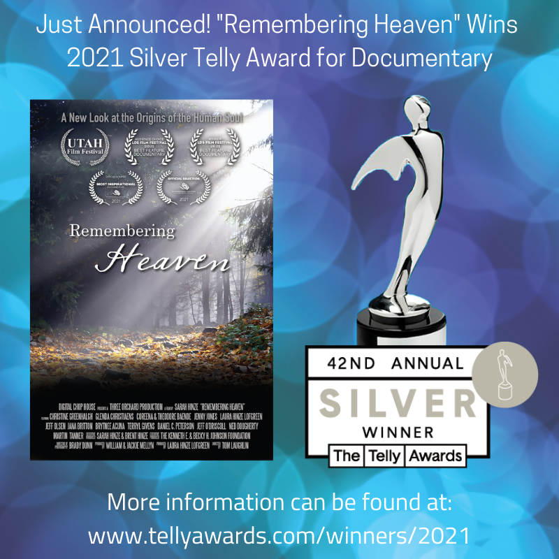 Telly award for Rememberiing heaven