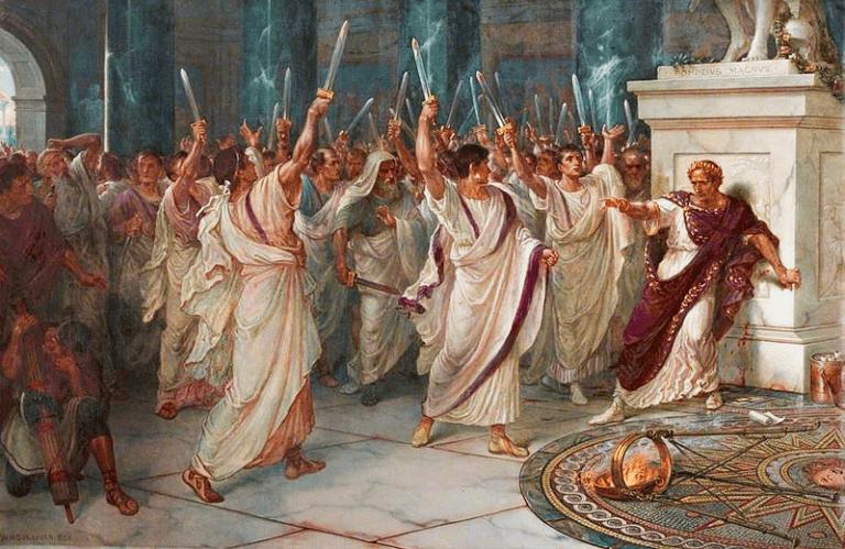 Julius Caesar and his assassins