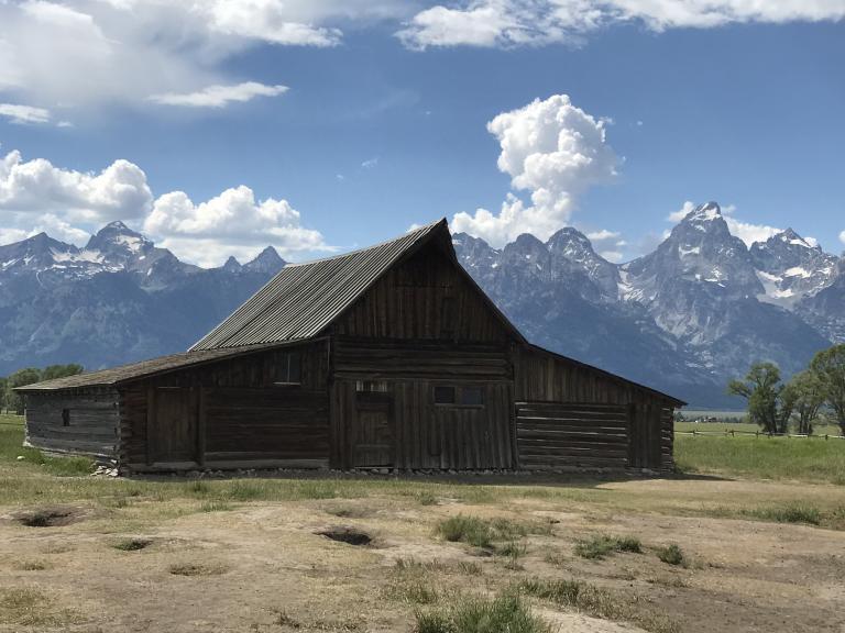 A barn at Mormon Row