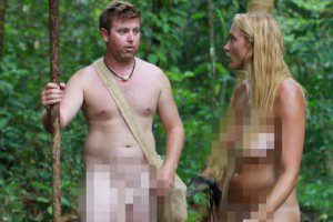 """""""Naked and Afraid"""" plus extremely pixelated. Is this really 'erotic' to anyone?"""