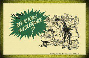 Awake 1958 Religious Intolerance