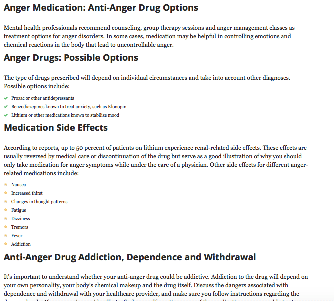 Screen shot from Psych Guides website