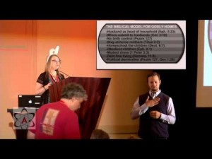 Youtube screen grab of Vyckie Garrison speaking at the American Atheist Conference 2014