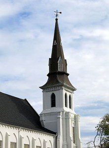 Image of Emmanuel Church Steeple from Defeating The Dragons