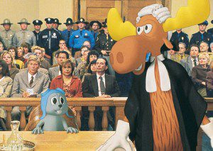 """Screen cap from the movie """"Rocky and Bullwinkle"""""""